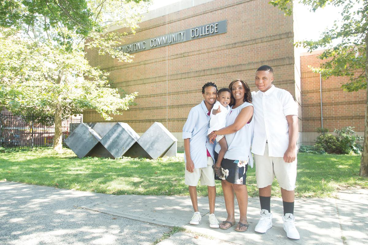 Family Economic Security Program (FESP) student Regina Scates and her family.